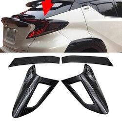 Dla Toyota CHR C-HR 2016 2017 2018 ABS tylny wykończenie pokrywy lampy oświetleniowej osłona tylnego światła ochraniacz ramy naklejki akcesoria do ozdabiana samochodów