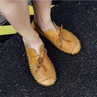 Original Summer Breathable Outdoor Sandals Genuine Leather Shoes Men Holes Beach Big Size Extra Large Leather Shoe Wholesale Hot
