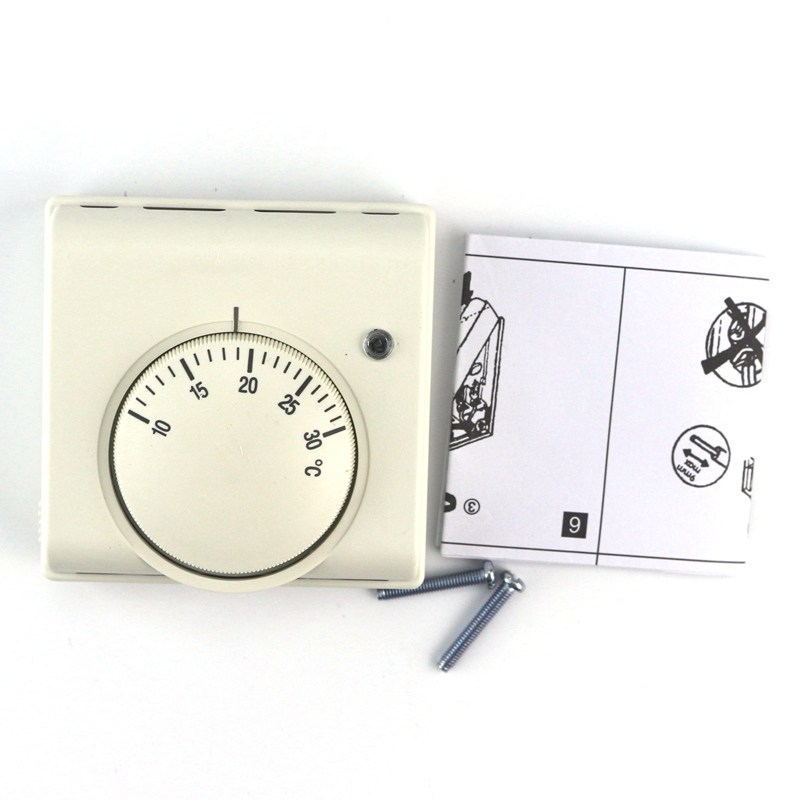 New 6A 220V AC Mechanical Room Air Thermostat Regulator Floor Heating Thermostat Temperature Controller Adjust Temperature