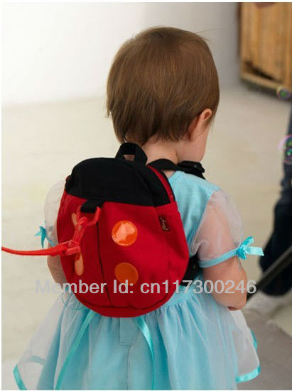 Baby Kid Keeper Safety Harness Strap Ladybug Bag Anti-lost tape Walking Wings