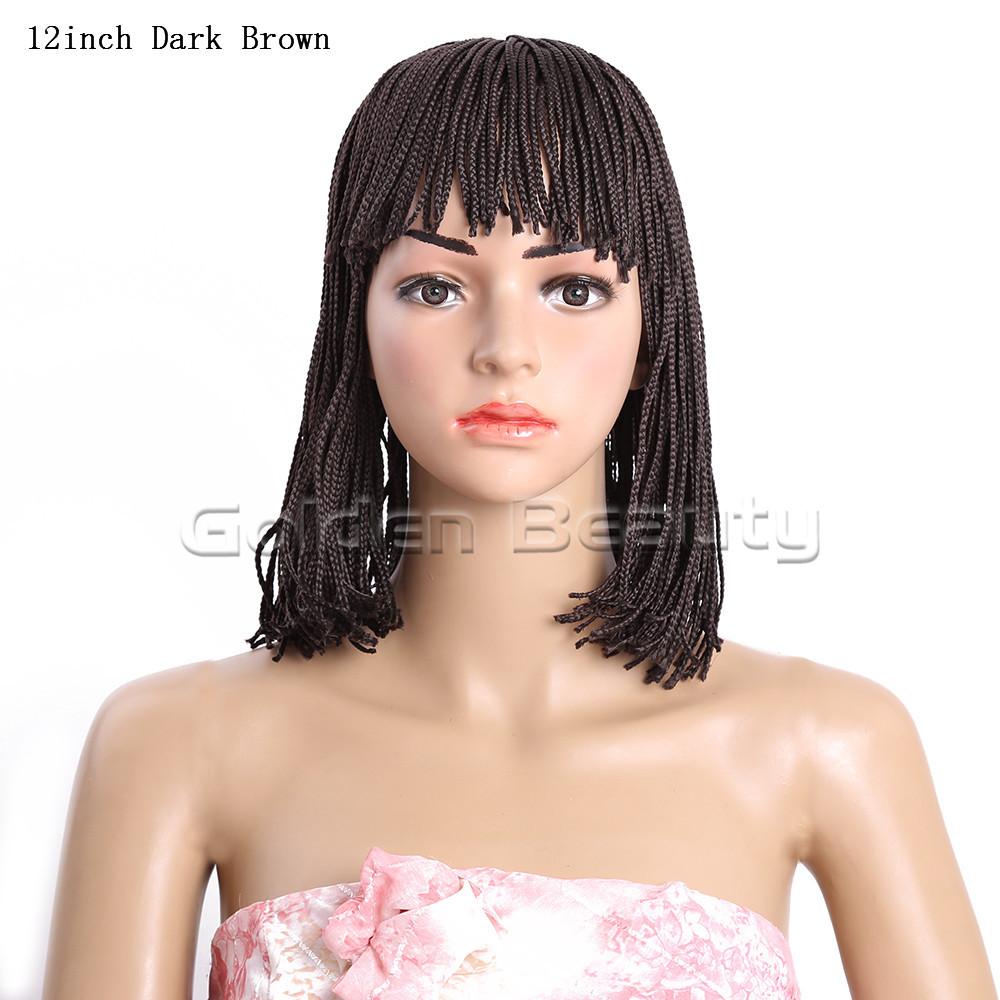 12-Dark Brown 206g #4 Box braid wig (2)