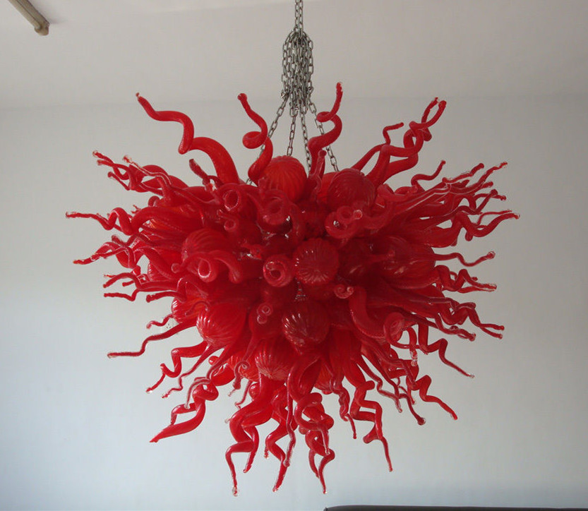 Home Decorative Lighting LED Light Source Contemporary Chihuly Red Glass Chandelier Lights Home Decorative Lighting LED Light Source Contemporary Chihuly Red Glass Chandelier Lights