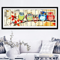 Diamond Embroidery Owl Family Full Diamond Painting Cross Stich Home Decoration Diamond Mosaic Wall Sticker Diy