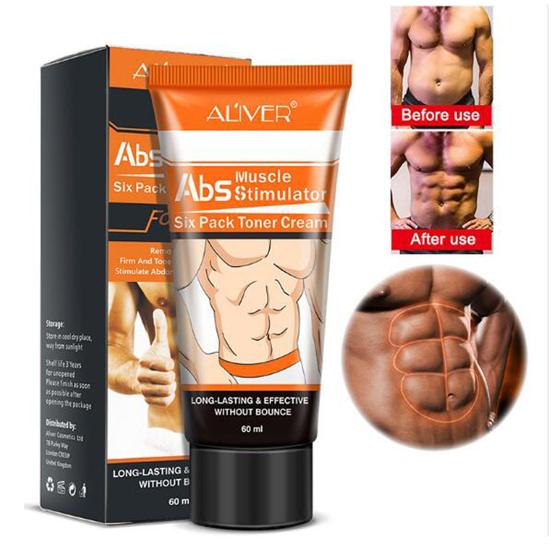 ALIVER Powerful Body Cream Hormones Men Muscle Strong Anti Cellulite Burning Cream Slimming Gel For Abdominals Muscle