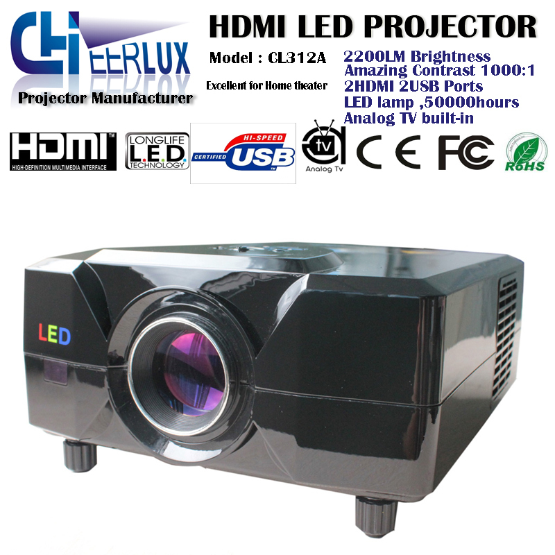 Tv Tuner Projector High Definition Home Theater Wxga Full: Portabel New Video Game Projector With Tv Tuner Multimedia