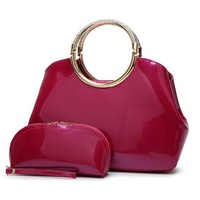 Brand Designer Purses And Handbags Women Luxury Patent Leather Tote Bag Ladies Clutch Bags Evening Party