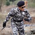 2017 Primavera Otoño uniformes de combate de las fuerzas especiales de Camuflaje Al Aire Libre Uniforme Militar traje de Chaqueta + Pantalones, Alta Calidad