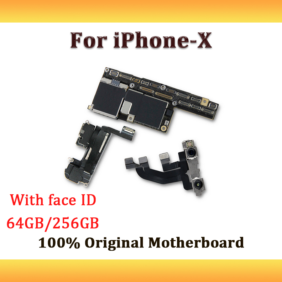 Original Logic Board For Iphone X Motherboard With Face Id Unlocked Ipad Mini Touch Screen Digitizer Ic Chip Control Circuit High Quality 64gb 256gb Idunlocked