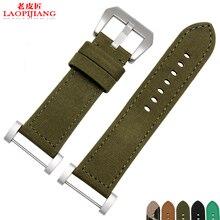 Laopijiang Suunto core nueva lona de la manera y de la correa de cuero reloj correa de camuflaje + tapón + hebilla de acero forSuunto Suunto etéreo