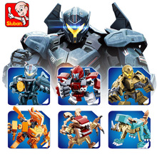 New 6 Styles Pacific Rim Gipsy Avenger Sabre Athena Phoenix fit robot star wars figures Building Blocks Bricks Toys цена