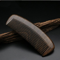 High Quality 1pcs Natural Chacate Preto Handmade Comb Wood Hair Combs Makeup Head Massager Antistatic Wooden