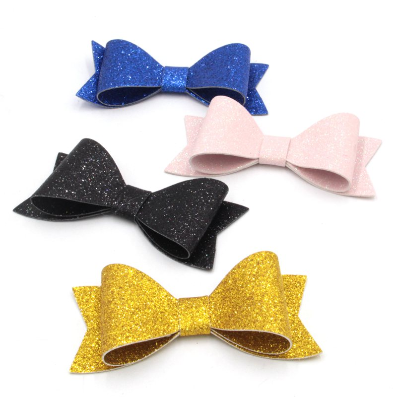 1PC Retail 2017 New 12 Colors 4'' Leather Bow With/Without Hair Clips, Kids Hairpins for Headband, Hair Accessory Headwear 1 pc double bass bow 3 4 brazil wood bow stick and ebony frog white bow hair