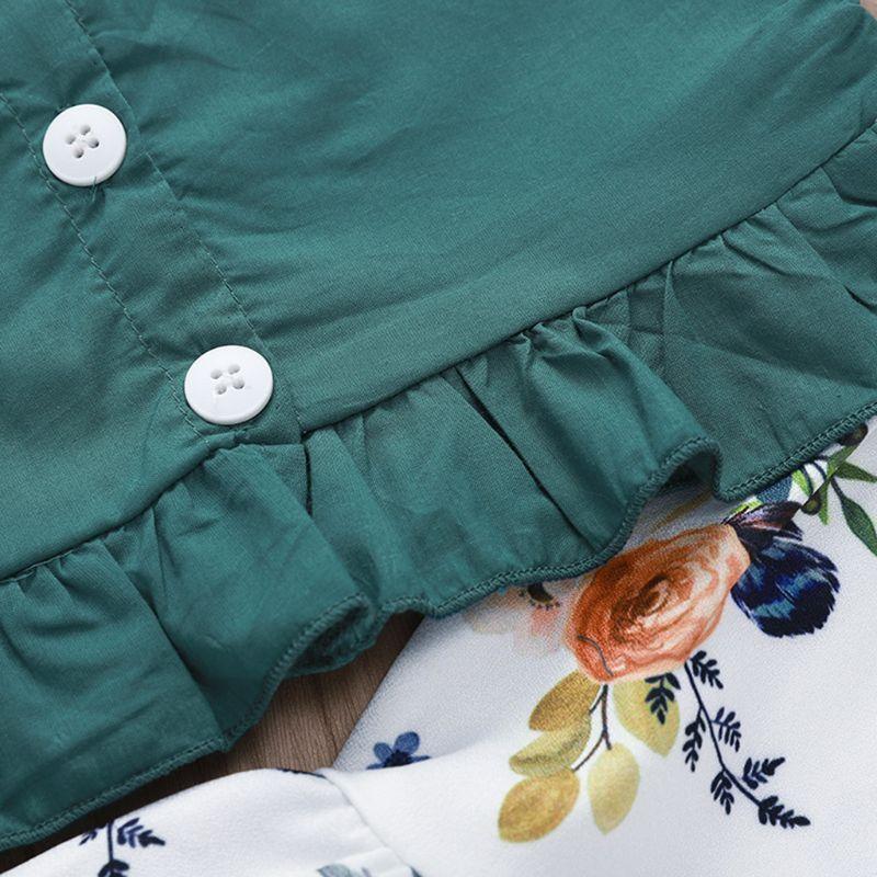 Купить с кэшбэком 2 Pcs/set Sling Top Skirts Suits White Bottom Printing Pattern Kids Girls Skirt Summer Seaside Style Vacation New Baby Suit