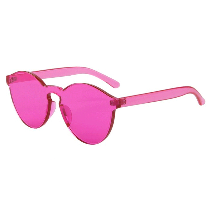 Fashion Women Flat font b Sunglasses b font Luxury Brand Designer Sun glasses Integrated Eyewear Candy