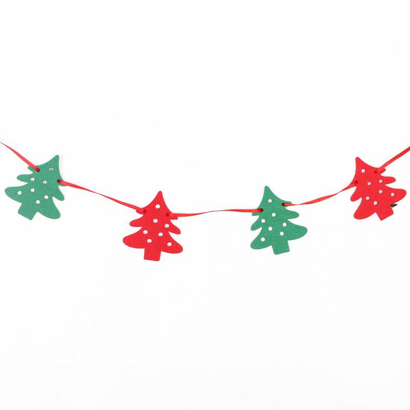 Christmas Banners Part - 15: Merry Christmas Banner Felt Christmas Banners Christmas Bunting Garland  Banner Hanging Xmas Festivals Home And Shop Decoration-in Banners, ...