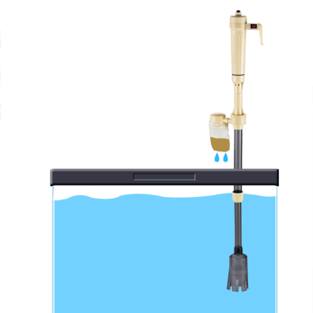 New Fish Tank Aquario Cleaning Tools Electric Gravel Cleaner Filter Siphon Vacuum Water Change Washer Pump Aquarium Accessories