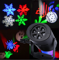 RGB Gobo Light AC85 260V 4W LED Stage Lighting Effect Lamp With Colorful 4 Changeable Multi
