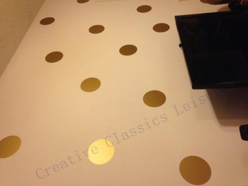 HTB1 ZyZGVXXXXcrXVXXq6xXFXXXl - Variety of sizes Polka Dots , Gold Polka Dots Stickers for kids rooms