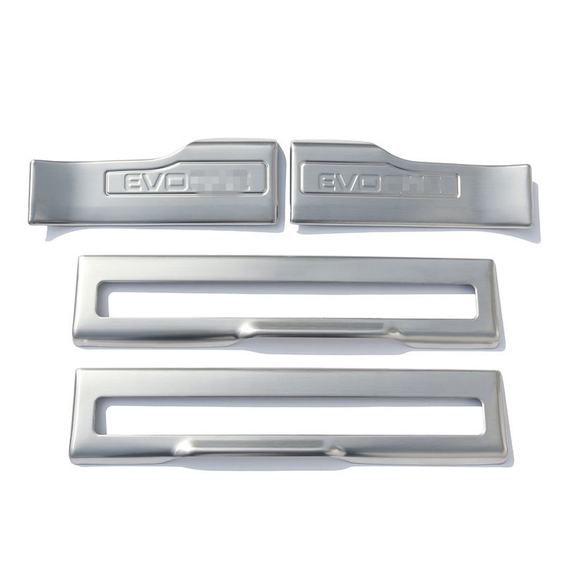 4pcs set stainless steel car inside door sill threshold - Exterior door threshold replacement parts ...