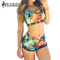 FLODISS 2017 New Summer Swimsuit Sexy Coconut Tree Print Bikini Swims Suit Beach Wear 2 Pieces Set Women Tankini Bathing Suits