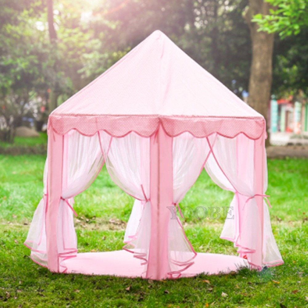 Princess Castle Tent Large Space Children Play Tent <font><b>for</b></font> <font><b>Kids</b></font> Indoor & Outdoor Pink Playhouse Perfect Gift <font><b>for</b></font> <font><b>Kids</b></font> tent children