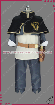 Black Clover Kingdom Magic Knight Black Bull Squad Grimoire Asta Uniform Outfit Cosplay Costume S002