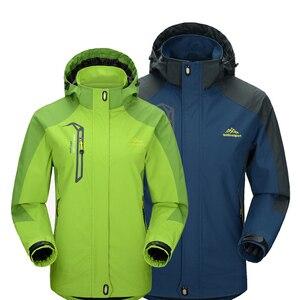Image 2 - Mountainskin 5XL 男性のジャケット防水春フード付きコート男性女性アウターアーミー固体カジュアルブランド男性服、 SA153
