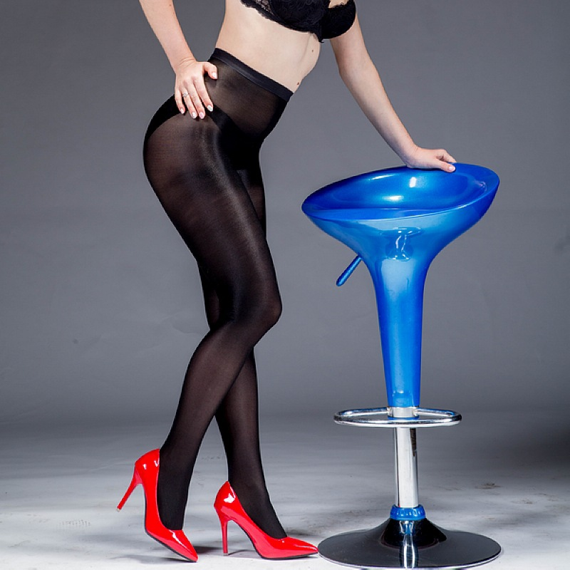 Buy US Size tights 70D pantyhose Sexy collant stockings collant femme tights women Dance Fitness sexy oil Shiny T-crotch