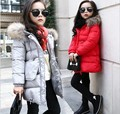 Meninas de inverno Com Capuz Casaco de Inverno Casaco Para As Meninas das Crianças Acolchoado Jaqueta Casual Crianças Outerwear
