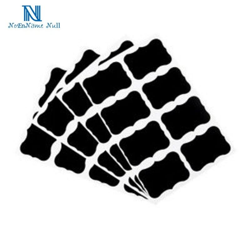 NAI YUE 36 Uds tablero negro elegante etiqueta para tarros de mermelada de cocina etiquetas adhesivas. 5cm x 3,5 cm decoración pizarra