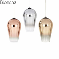 Modern Tom Dixon Fade Suspension Lamp Glass Pendant Lights Led Hanging Lamp Loft Industrial Home Decor for Living Room Fixtures