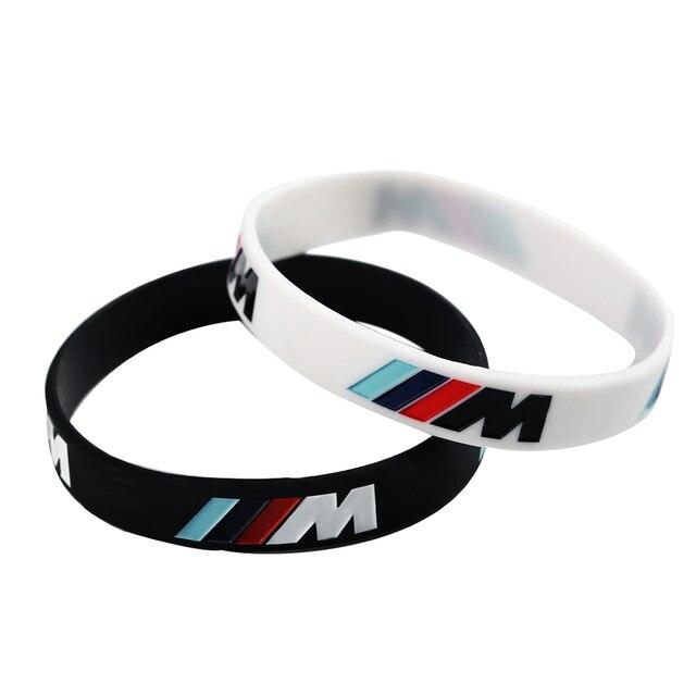 Gioielli di Sport Incidere Ologramma M Bracciali Potenza Sport Nero Bianco Wrist