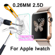 For Apple watch iWatch 38mm glass film 9H 2 5D Premium Tempered Glass Screen Protector explosion