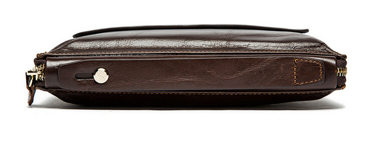 Men of money baotou layer leather hand bag long leather wallet-in Wallets from Luggage & Bags    2