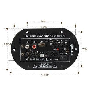 Image 2 - Subwoofer Amplifier Board Car FM Raido Bluetooth Audio Amplifiers 12V 24V 220V For 5 8inch RCA Bass Speakers  DIY