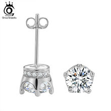 Trendy Earring Stud with 0.8 ct Simulated Diamond AAA Cubic Zirconia Earring For Women OE122