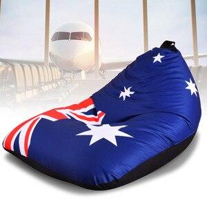 Image 4 - LEVMOON זאק אוסטרליה דגל מושב כיסא ספת פוף מיטת שקית שעועית הפופים כיסוי ללא מילוי מקורה