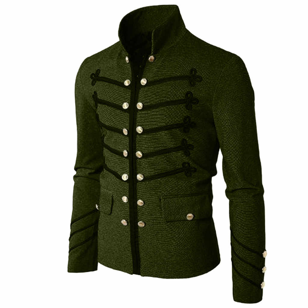 JAYCOSIN Autumn Men's Jacket Gothic Embroider Sequins Outwear performance Outfit