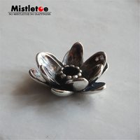 Genuine 925 Sterling Silver Giant Lotus Pendant Charms Fit European 3.0mm Necklace Jewelry Only Pendant Not Included Chain