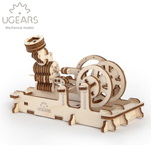 81pcs DIY Wooden Pneumatic Engine Mechanical Transmission Model Assembly Puzzle Toy for Children gift