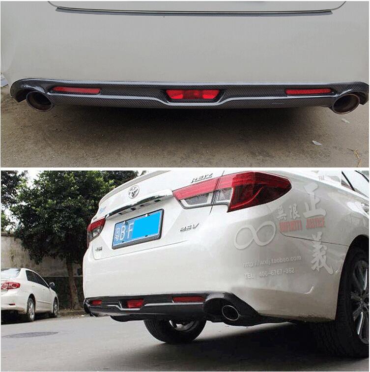 Углеродного волокна задний багажник спойлер диффузор выхлопных газов бампер Защитная крышка для Toyota Reiz MARK X 2013 2014 2015 2016 By EMS
