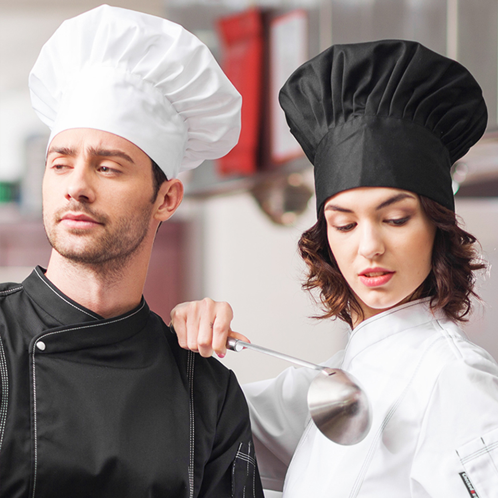 High Quality Food Service Restaurant Hotel Hats For Men Women Chef Caps Sushi Uniforms Hats Chef Adjustable Cooker Hat 2019 New