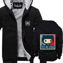 71cf823aa men winter hoodies thick fleece coat The Octodex GitHub baracktocat yes we  code jacket male shubuzhi
