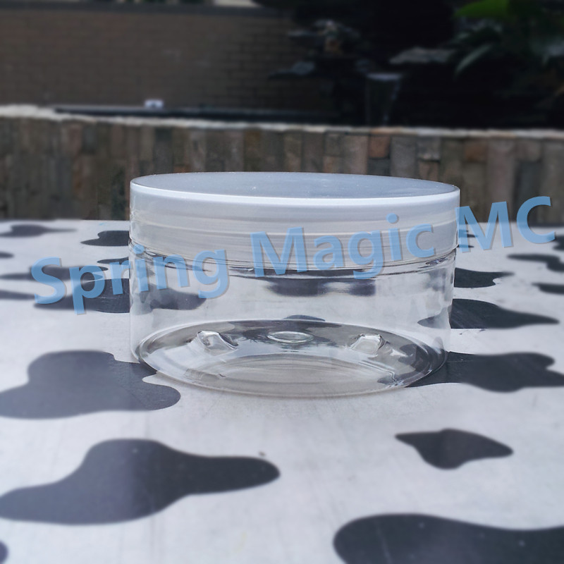 200ml Transparent PET Cream Jars With Black White plastic Lid Mask Jar cosmetic container 200g PET