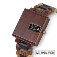 木製腕時計男性竹メンズ腕時計 saat erkek 男性クォーツ腕時計木箱のカスタマイズを受け入れる