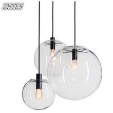 Designer Glass Chandelier Modern Minmalist LOFT Casual Transparent Glass Ball Chandelier