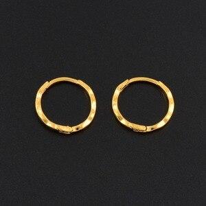 Image 5 - Anniyo 12 pares/diâmetro 1.5 cm marshall primavera anel brincos cor do ouro para mulheres meninas kiribati jóias micronésia presentes #163306