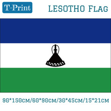 Free shipping 90*150cm/60*90cm/30*45cm/15*21cm Lesotho National Flag For World Cup / National Day / Olympic Games national day cameroon gifts