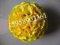 EMS Livraison gratuite-yellowwedding baisers de soie rose fleur boule artificielle fleurs decoration-30cm 12 pouce 15 pcs/lot