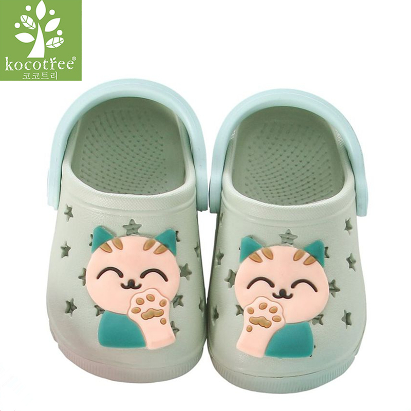 Kocotree Cat Baby Beach Slipper Children Sandals Wholeas EVA Anti-slip Girls Boys Slippers Summer Garden Shoes Child Slipper